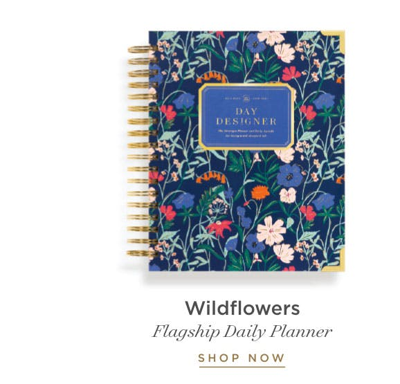 Flagship Daily Planner in Wildflowers.