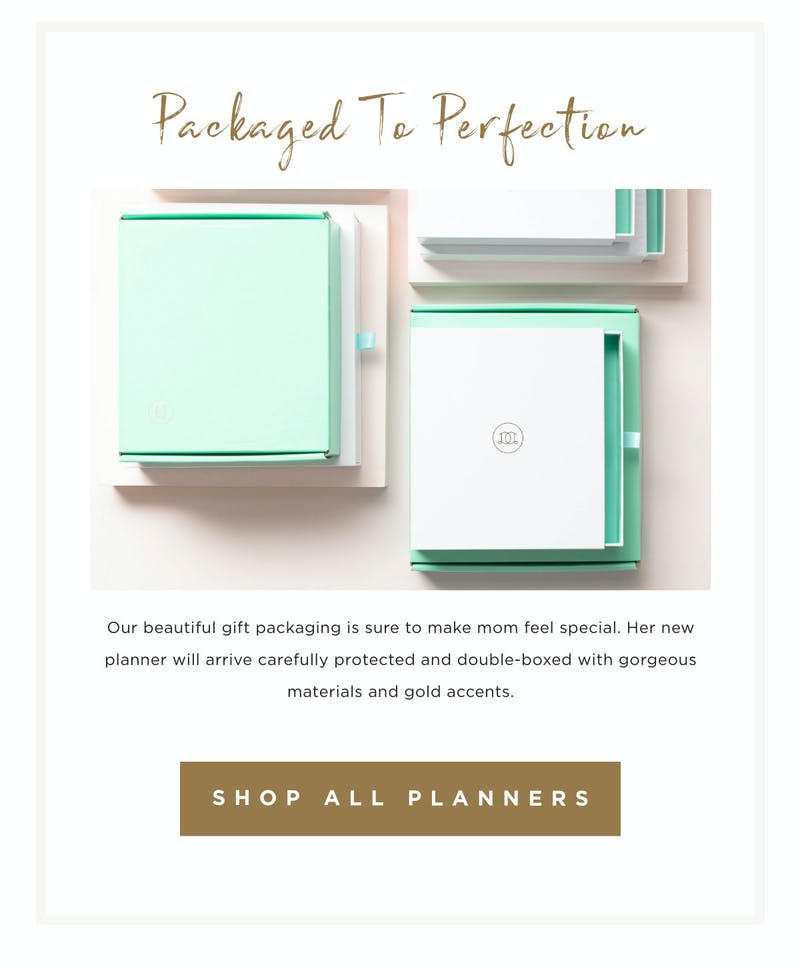 Packaged to perfection. Shop all planners!