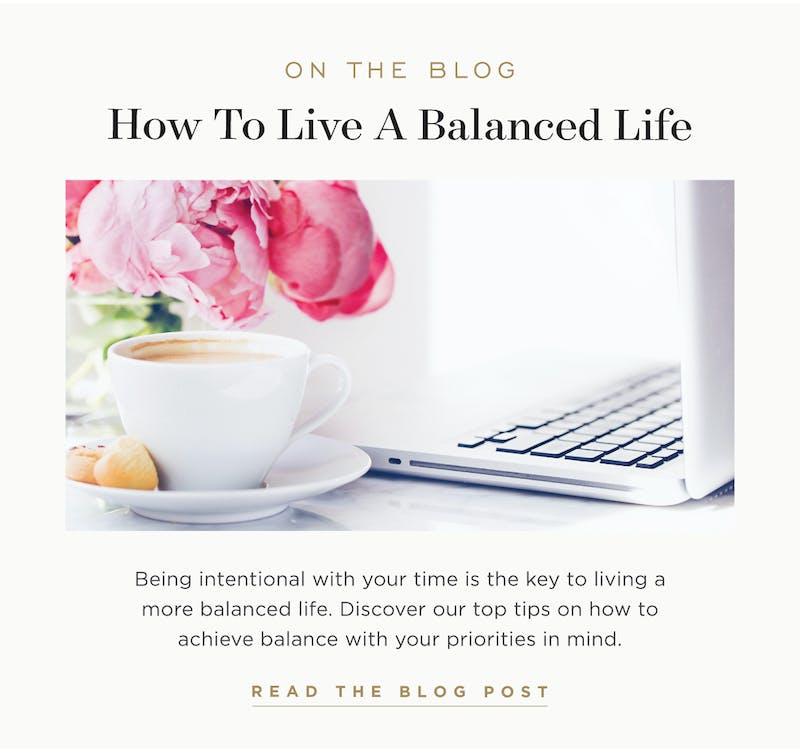 How to Live a Balanced Life.