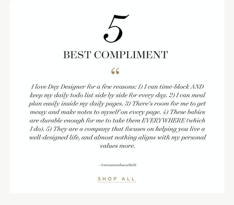 #5 - Best Compliment!