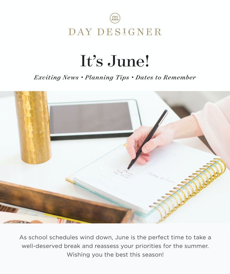 Planning tips, product news, and dates to remember!