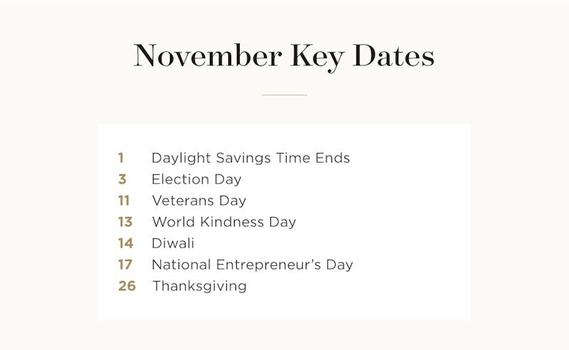 November Key Dates.