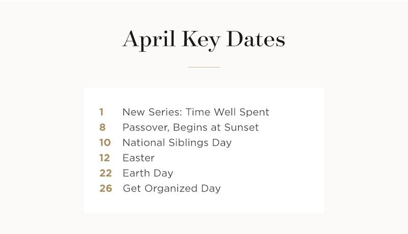 April key dates.