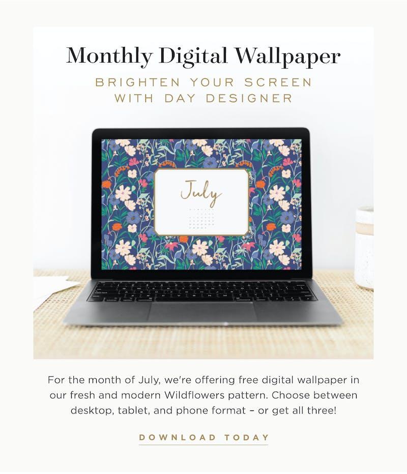 Free digital wallpaper for July.