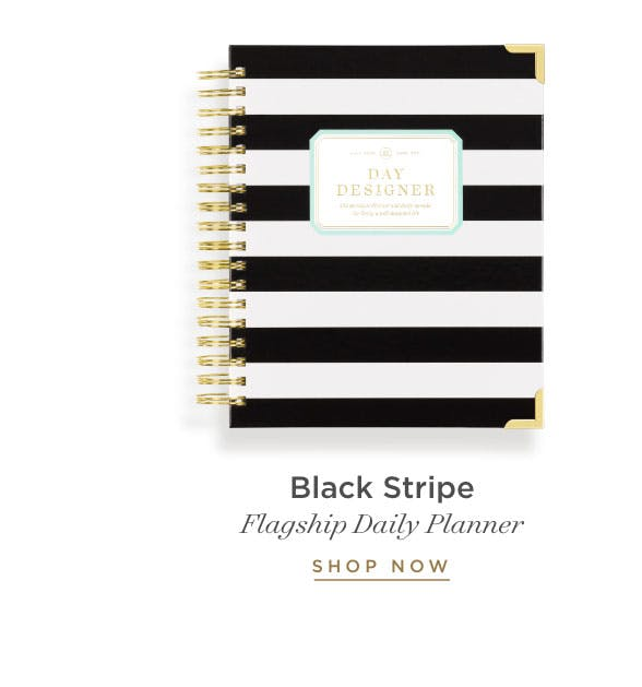 Flagship Daily Planner in Black Stripe.