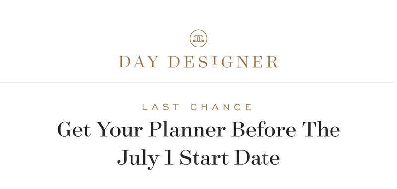 Last chance! Get your new planner before the July 1 start date!