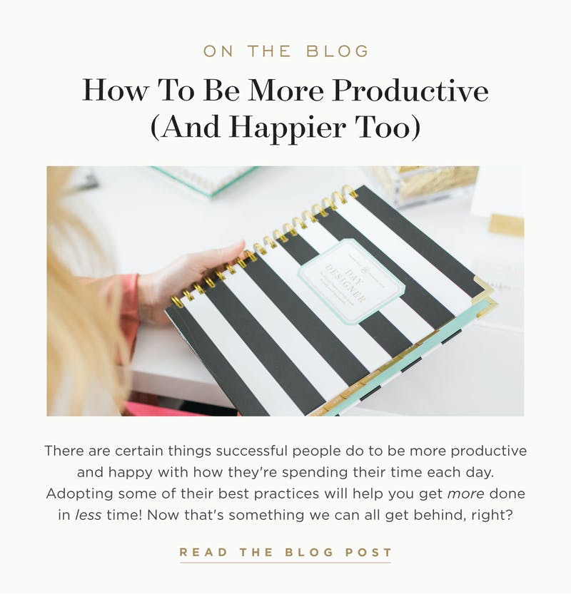 How To Be More Productive (and Happier Too).