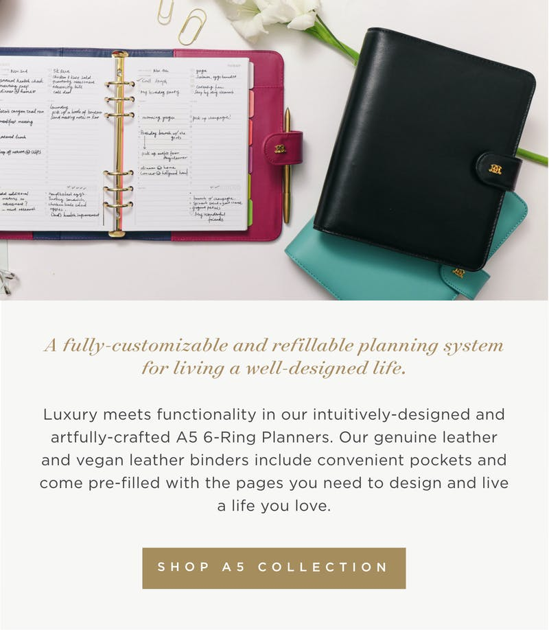 A fully-customizable and refillable planning system for living a well-designed life.