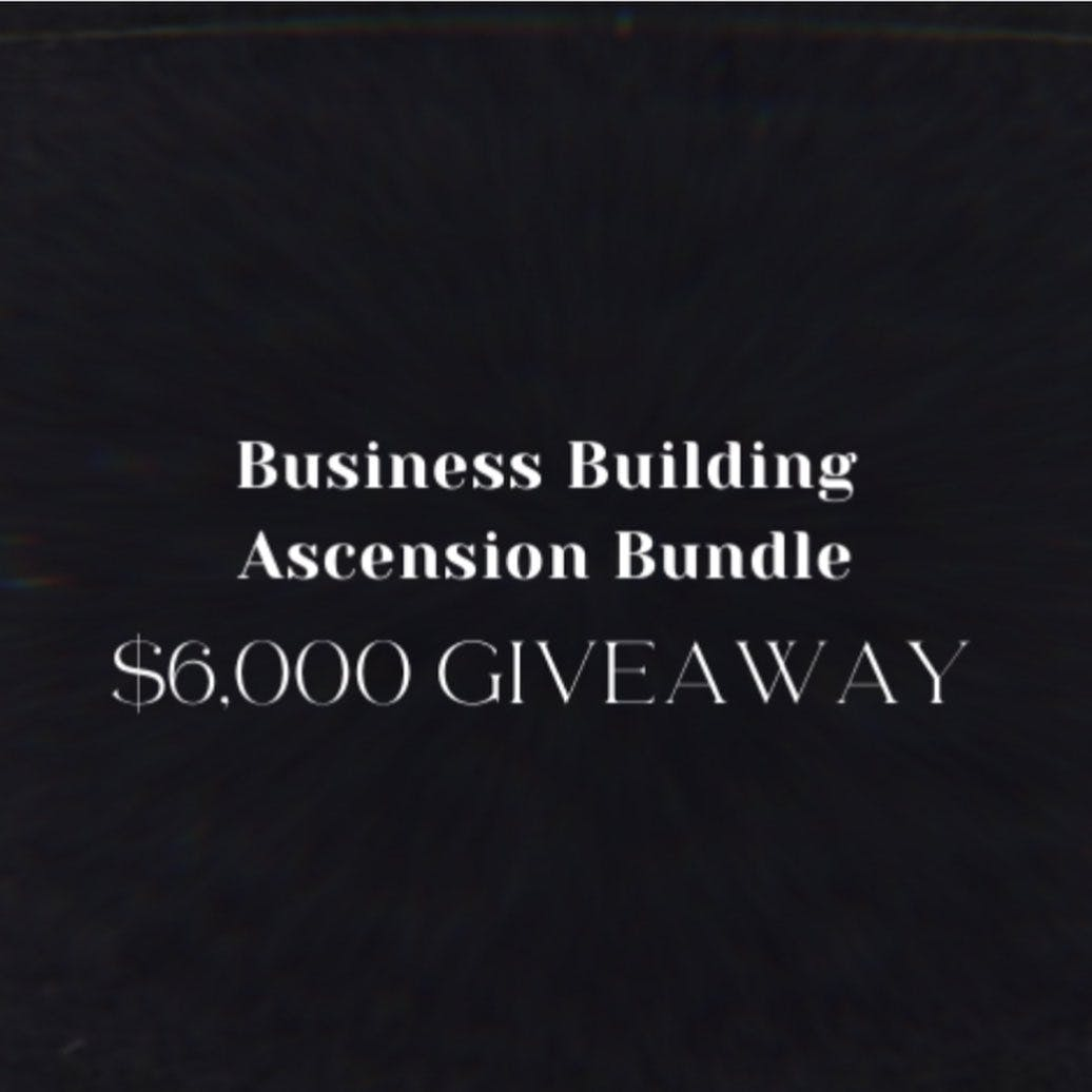 GIVEAWAY 🎉 Win a Business Building Ascension Bundle valued at over $6,000.  I've joined up with a very special group of high frequency, gifted leaders to give you an opportunity for the chance to win courses, sessions, meditations, and trainings to expand your business and life.  How to enter:  1. Like this post 2. Follow @sarahreillycoaching @jodielynncraven @rickileewalls @zlatassx @safeexpansion @mysoulgate @alicewrites @nathalygranja_  3. Tag 5 friends in the comments.  1 person will win ALL of the following (lucky!):  ✔ A spot in @sarahreillycoaching 's Untouchable 6 week group program for leaders (Value $997). Go from successful and competent to utterly Untouchable.  ✔ A 90 minute 1:1 session with @jodielynncraven + 3 Abundance Frequency Meditations (Value $997). Break through deeply rooted patterns with money and increase financial flow in your life.  ✔ @rickileewalls 's Copy Magic 6 week copywriting course for thought leaders (Value $997). Unlock your authentic voice and learn to write words that connect and sell.   ✔ A spot in @zlatassx 's On Brand Accelerator January class (Value $997). Build your brand, monetize your gifts, and launch your signature offer in 6 weeks  ✔  A 60 minute tangible manifestation session with @safeexpansion (Value $555). Bring into your life the object you desire with speed.  ✔ A 60 minute 1:1 high-self channeling session with Heather of @mysoulgate (Value $997). Connect with the highest essence of you and channel life force, life plan, and/or life purpose to you with clarity to assist with life decisions.  ✔ A 60 minute book writing strategy session with @alicewrites (Value $500). Learn how to take the first steps to writing a bestseller.  ✔  A 90 minute Oracle Temple Session with @nathalygranja_ (Value $666). Ask anything and journey into your soul's blueprint of infinite potential and learn what you can do to further walk your most Abundant Timeline.  Giveaway ends Monday Nov 30 at 11pm PST. Winner will be announced on Wednesda