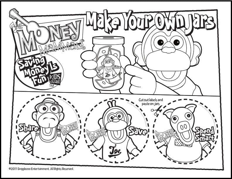 Joe the Monkey Jar Printable