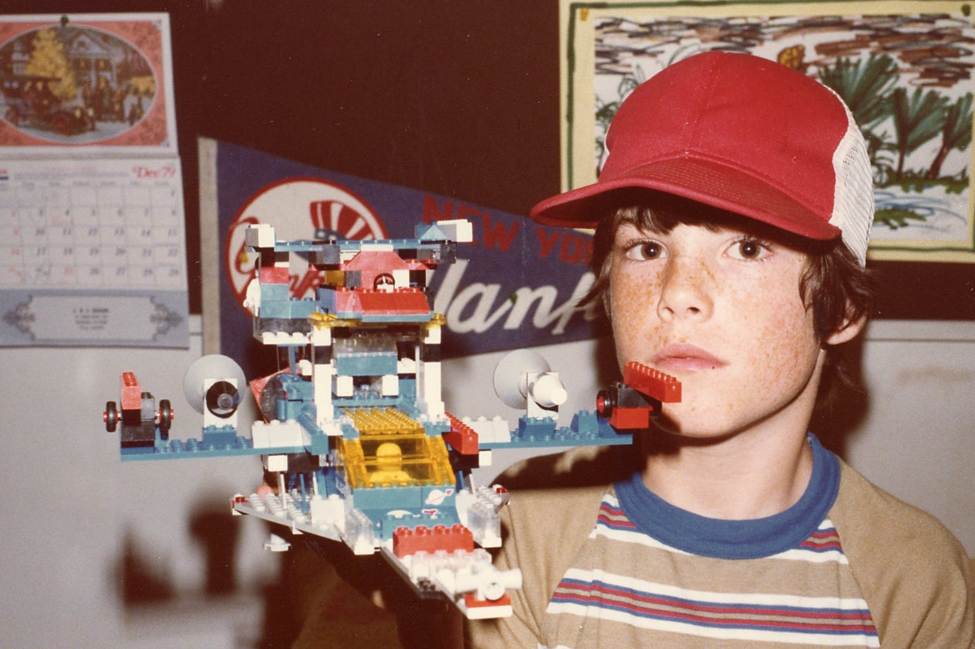 Yours truly with my Lego space cruiser