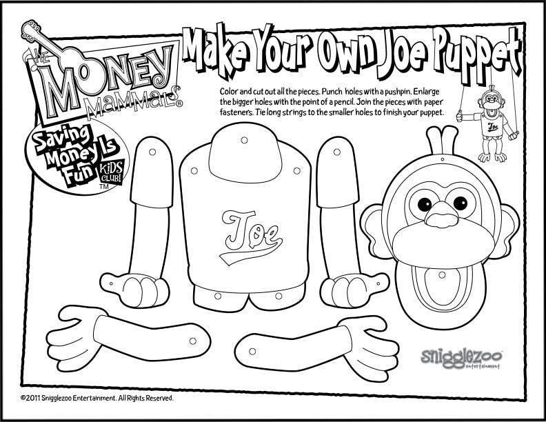 Joe Puppet Printable