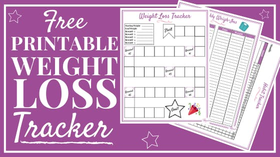 Free Printable Weight Loss Tracker Plus Habit Tracker Weigh In Chart