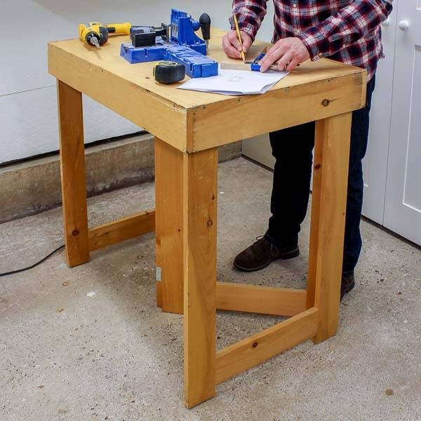 Diy Folding Workbench Free Plans Saws On Skates