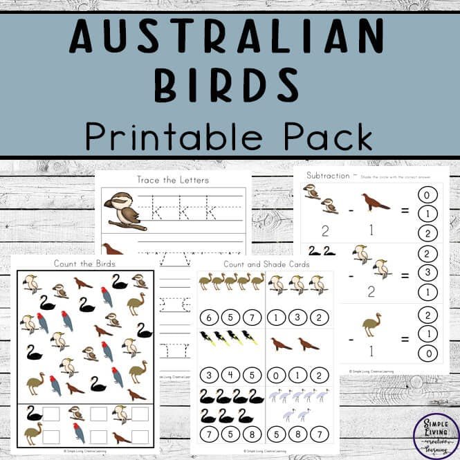 Australian Birds Printable Pack - Simple Living. Creative Learning