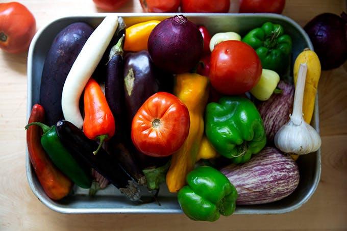 Summer vegetables.
