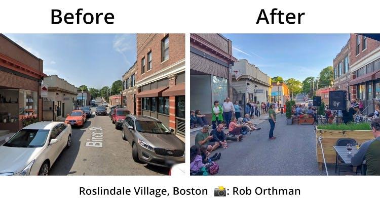 roslindale village people over cars