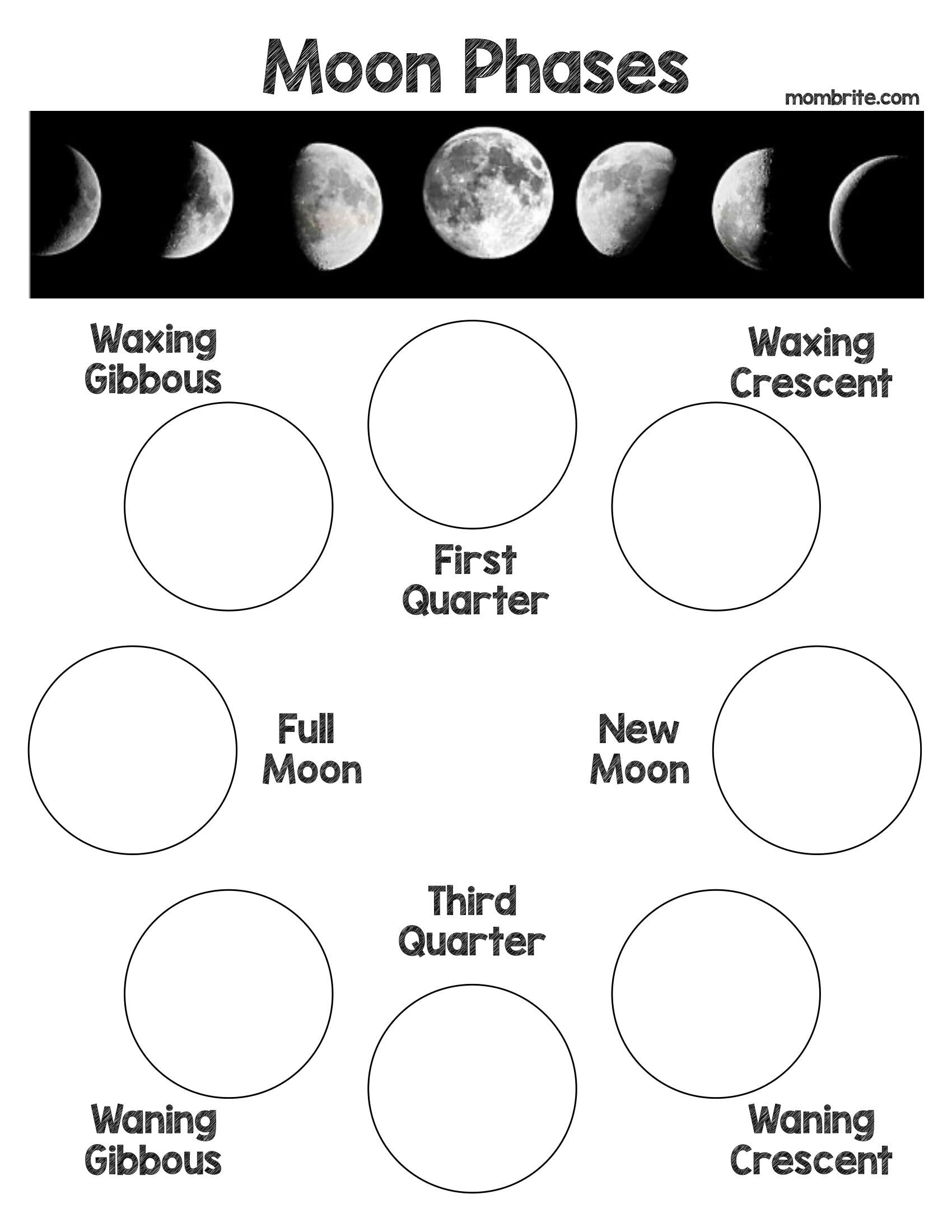 Oreo Cookie Moon Phases Activity [Free Worksheet]  Mombrite With Regard To Moon Phases Worksheet Pdf