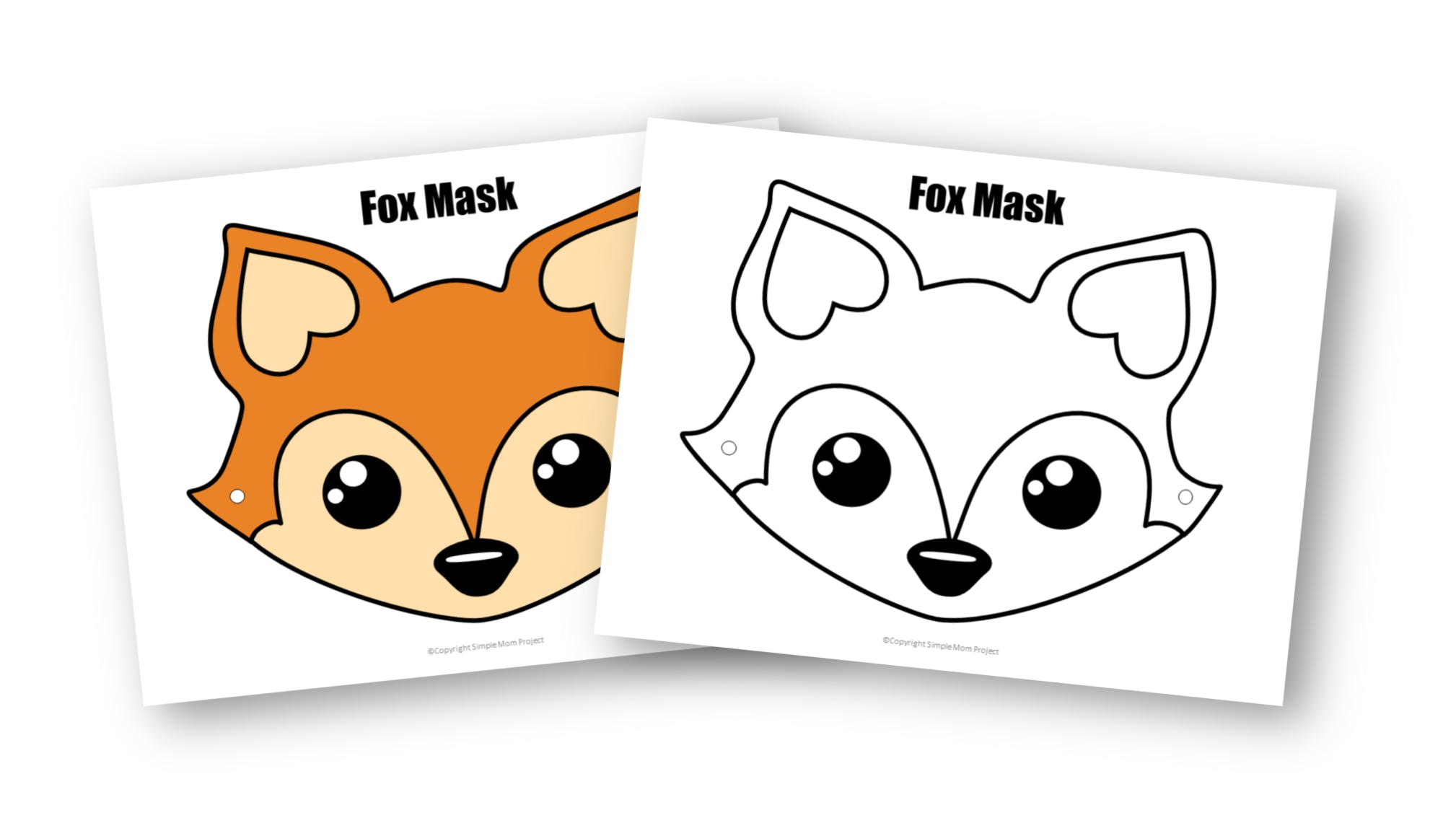 Free Printable Fox Masks For Kids Simple Mom Project