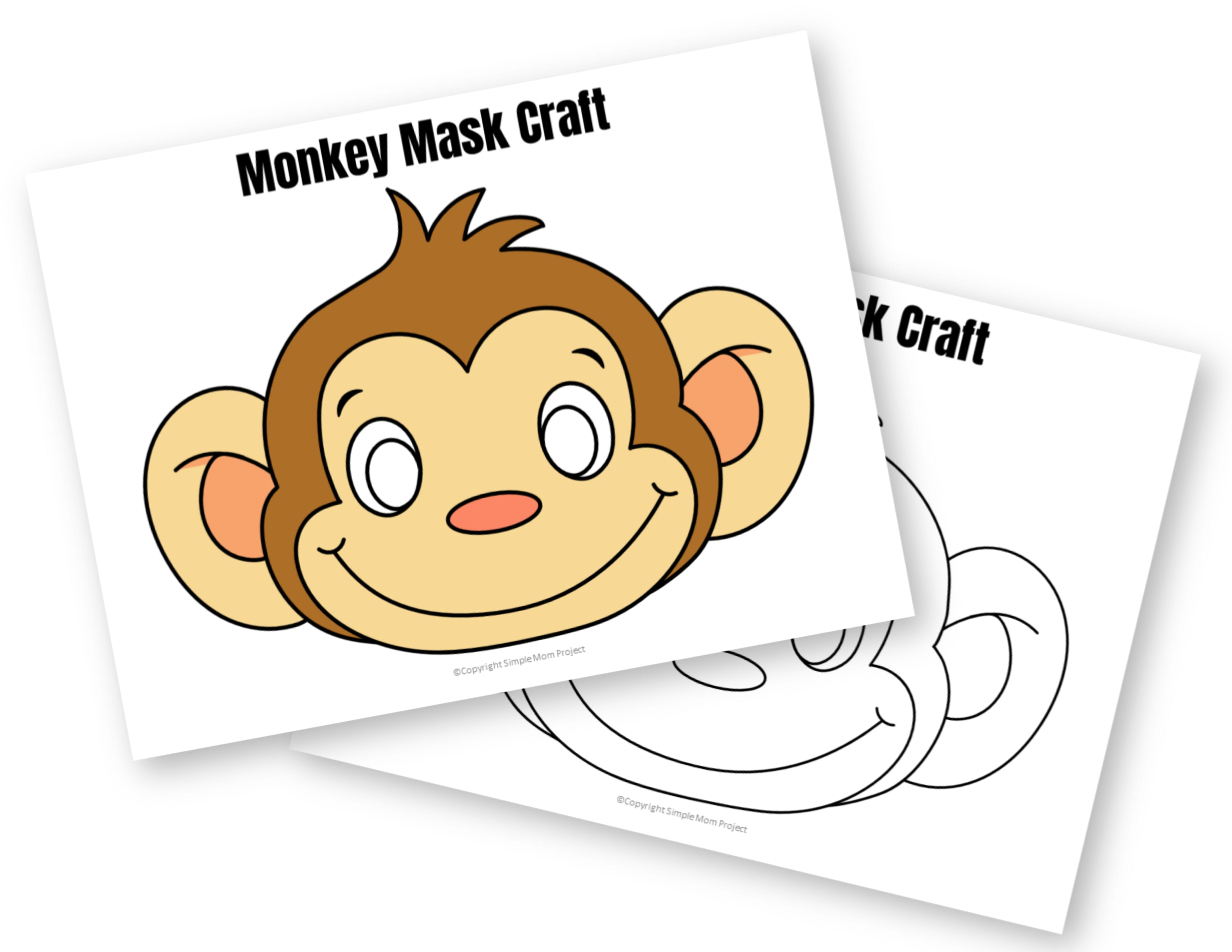 This is an image of Satisfactory Monkey Mask Printable