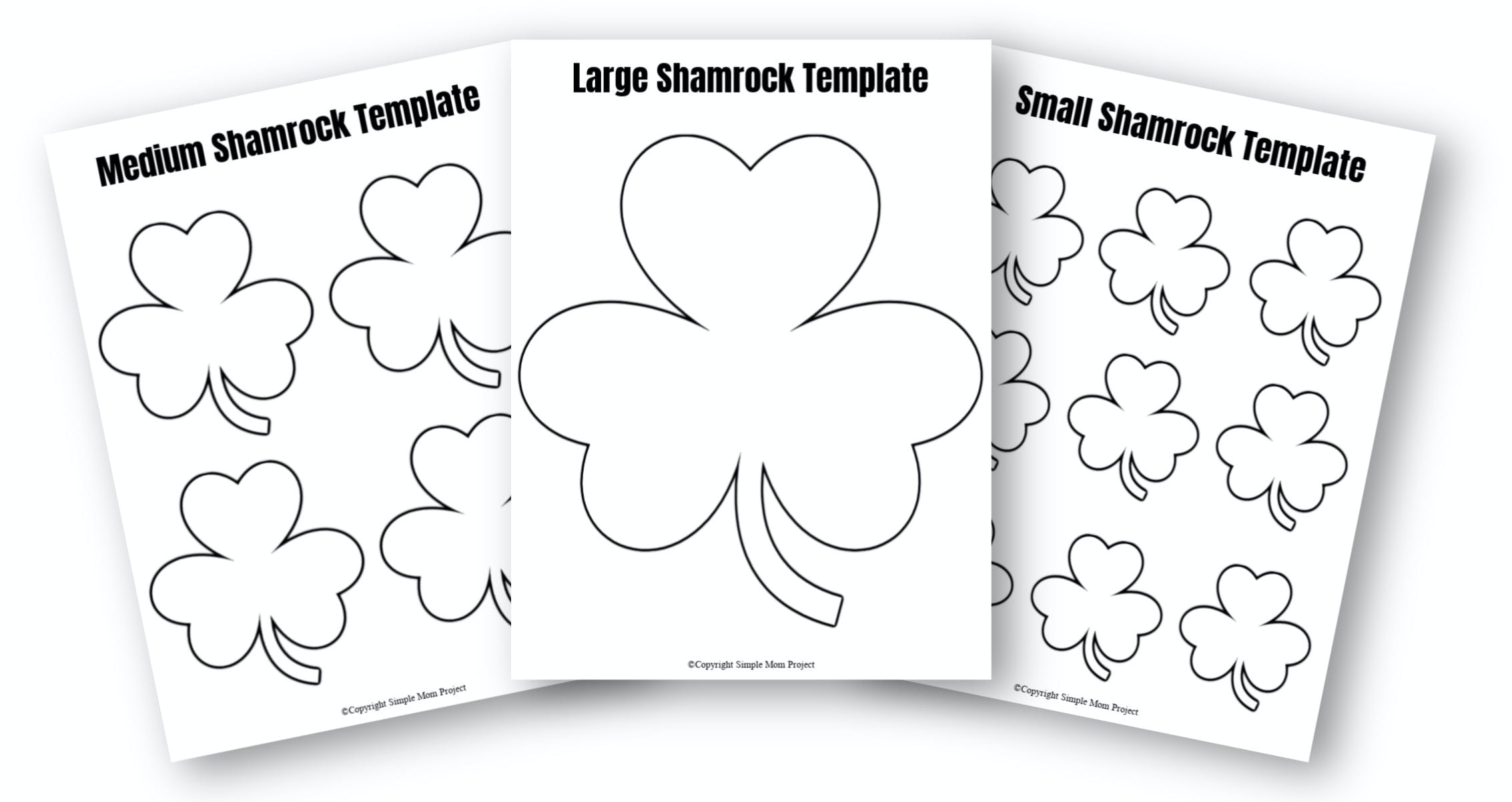 - Free Printable Shamrock Templates In Small, Medium And Large