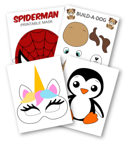 Free Printable Superhero Face Masks For Kids Simple Mom Project