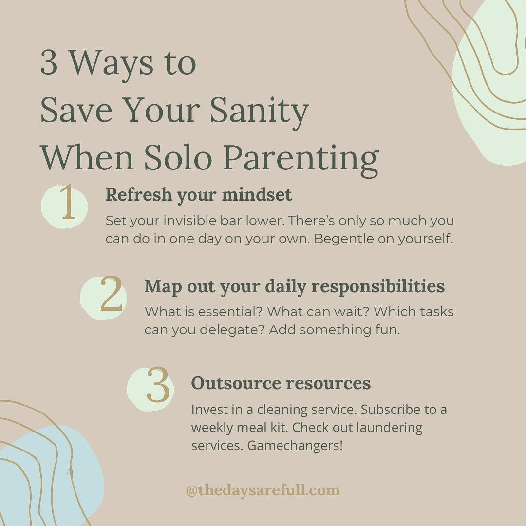 If you're new to following me, than you might not know that every Wednesday, I host a Facebook Live where I teach you something that I've learned along my own grief journey.  Tomorrow, April 7th, 2021, I'm talking about all the best life hacks I've discovered to stay sane when solo parenting.  Solo parenting ain't the same as single parenting. The latter implies that there is another adult involved somehow, even if they're just the genetic component provider.  Solo parenting means it's just you, all of the time, 24-7 until the end of the world. Well, hopefully it won't be just you for that long.  It has for me. Going on 7 years now.  Last year, I wrote up a list of the best things I learned that bring me back to myself even when I'm tired of playing mommy. It was golden. Truly awesome. It helped so many solo parents find their own breathing room.  And then...Covid happened.  Let me tell you, as awesome as that list was, some of the points didn't apply anymore. Go out for a haircut? My Covid hair is a mess because salons have been closed for half a year. Get your nails done? Go out to the spa?? Get a babysitter??? Get real.  It seemed fitting to finally put the proverbial nail in the coffin of my old sanity-savers list, and compile an updated one more fitting to our current situation.  ​I'm previewing it tomorrow at 9:30 pm EST in my Facebook Group.   Oh, and if you're wondering why this list is important information to have, one of the many things that Covid highlighted in our society is that solo parents got hit hard. Working from home (if you're lucky enough to still be working), helping your child with online learning, and no back-up? Horrors!  Hope to see you there! #lifeafterloss #griefgal #widowchick #girlwhogetsit #widowshelpingwidows #widowsofinstagram #healinggrief #griefsupport #griefspecialist #griefcoach #griefcoaching #itsokaynottobeokay #soloparent #solomom #soloparenting #soloparents #widowclub #youngwidow #onlyparent #onlyparenting #lifewiththedangersquad