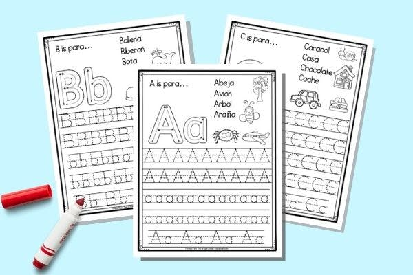 Free Printable Spanish Alphabet Tracing Worksheets - The Artisan Life