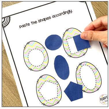 Fun Easter Printables Shape Sorting Activity with 8 Basic Shapes 7