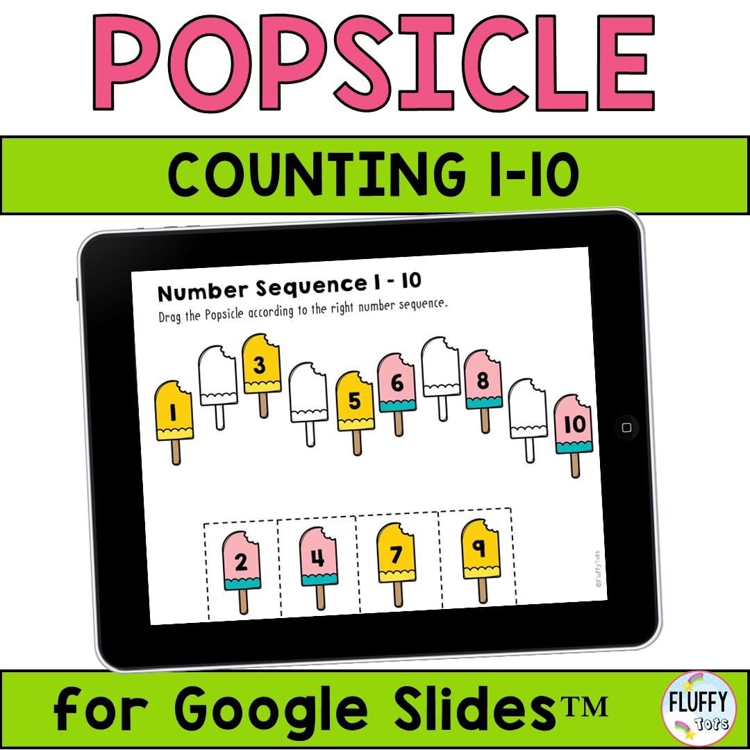 Popsicle Counting Activities for Google Slides™ : FREE Google Classroom Activities 1