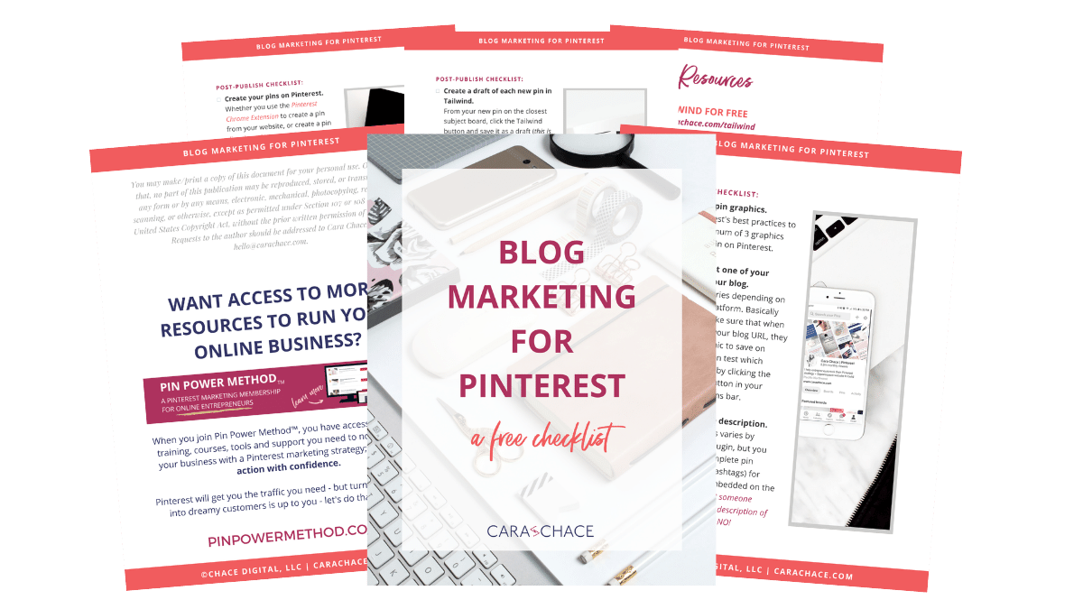 Blog Marketing for Pinterest Checklist