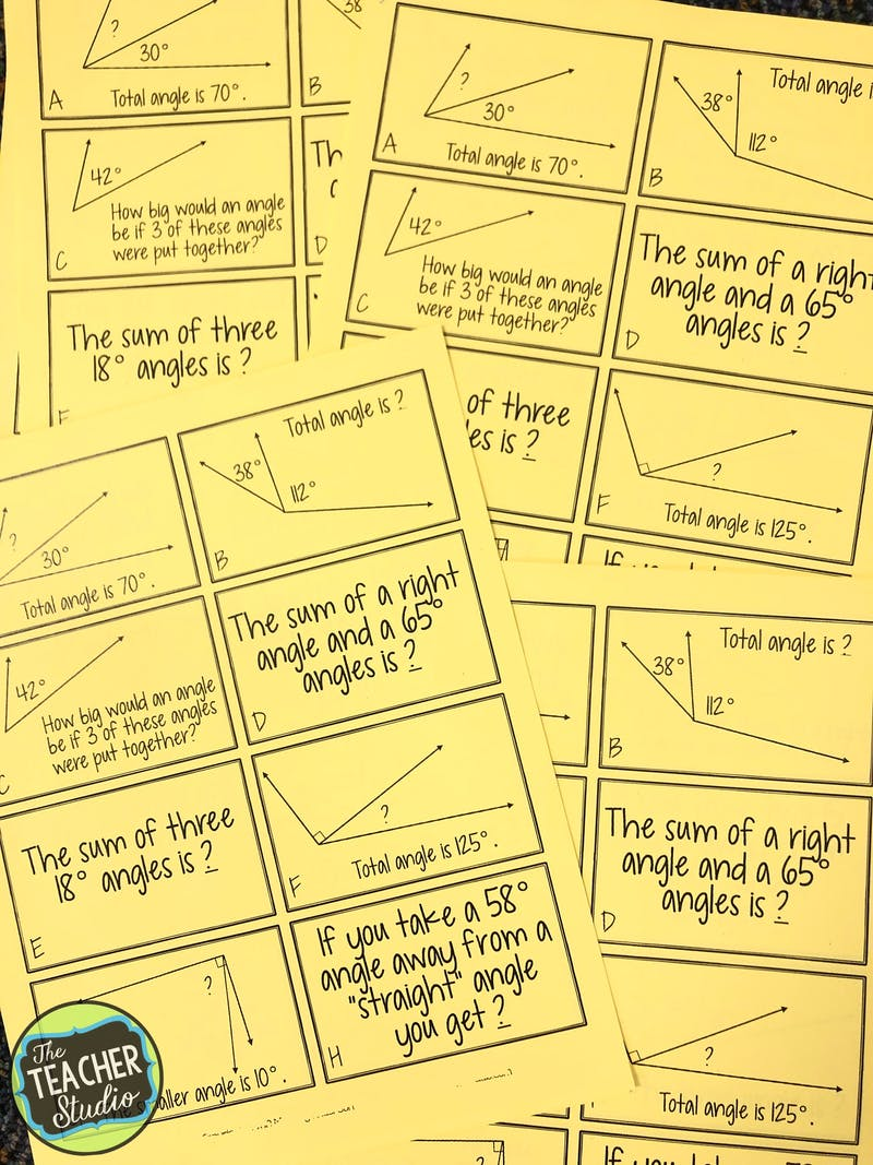 teaching angles, math practices, math sorts, fourth grade math , 4th grade math, protractors, using protractors