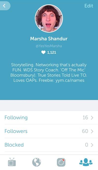 Clubhouse Profile Marsha Shandur-Storytelling-main expertise