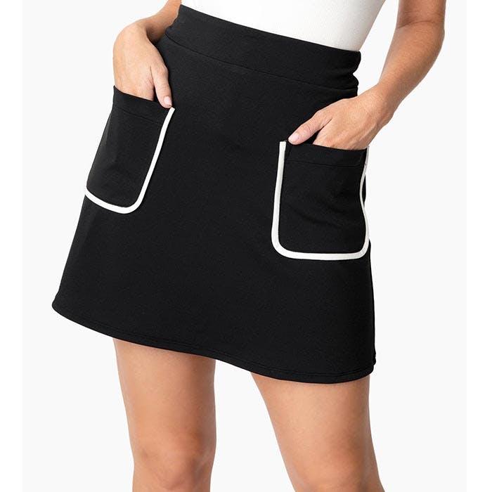Smak Parlour Say It Loud mod pocket mini skirt - black