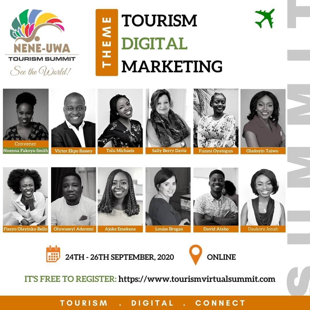 Looking forward to learning and gaining more knowledge at the tourism virtual summit.  Join me by signing up for free with the link in: @neneuwa bio. It is tailored for tourism businesses but digital marketing skills could be applied to other businesses, entrepreneurs, career professionals running businesses etc.  #tourismsummit2020