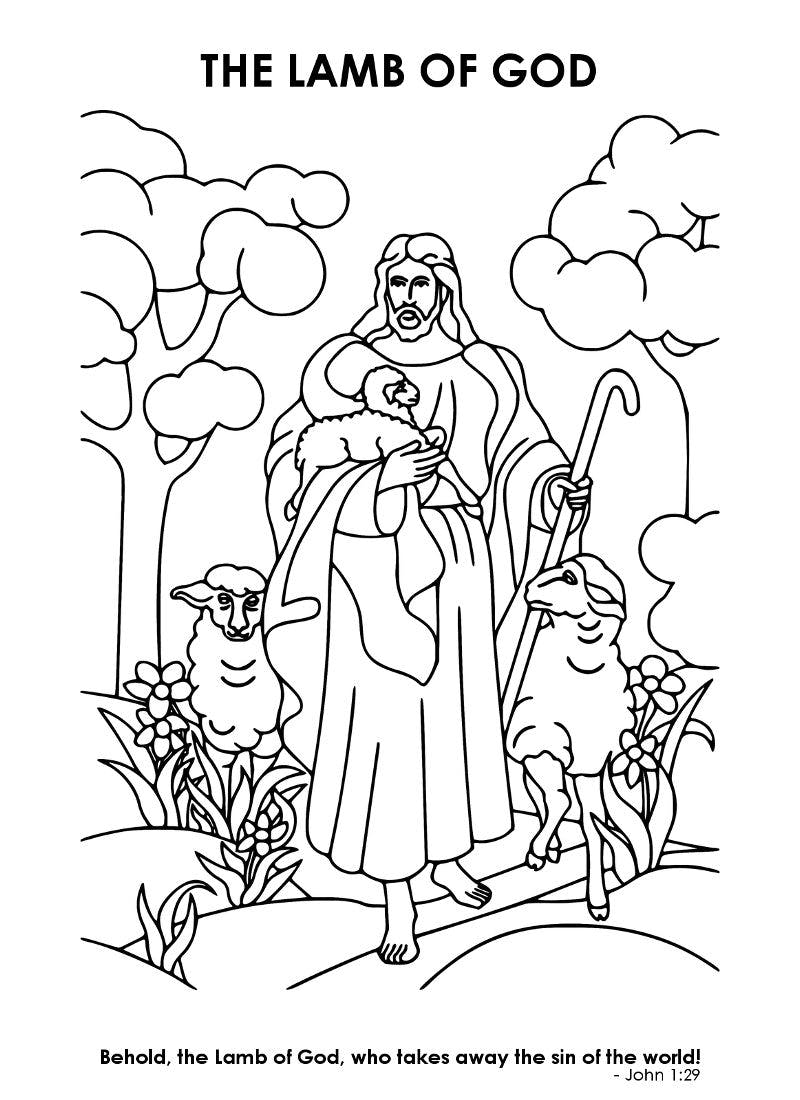 Christian Easter Coloring Page Mom Life Made Easy